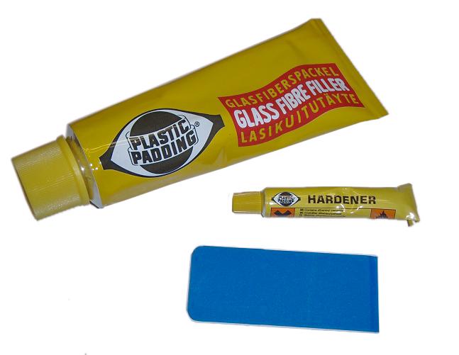 glasfiberspackel plastic padding