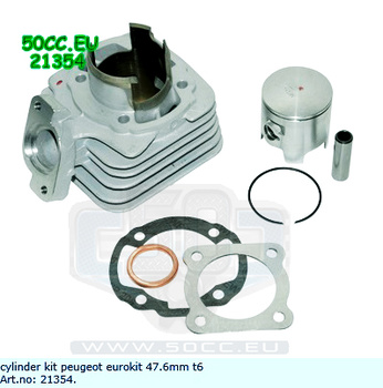 Cylinder Peugeot Ac 70Cc 47.6Mm Airsal Tech 6 racing