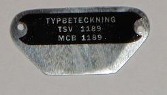 Typskylt 1189 MCB Flakmoped